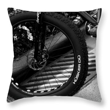 Bike Tire Throw Pillow