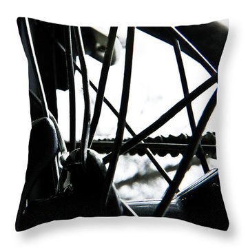 Bike Wheel Throw Pillow