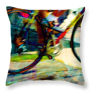 Throw Pillow featuring the photograph Biker by Bob Pardue