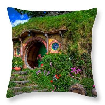 Bilbo Baggin's House 5 Throw Pillow