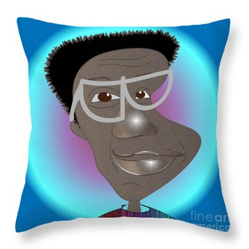 Bill Cosby Throw Pillow by Iris Gelbart