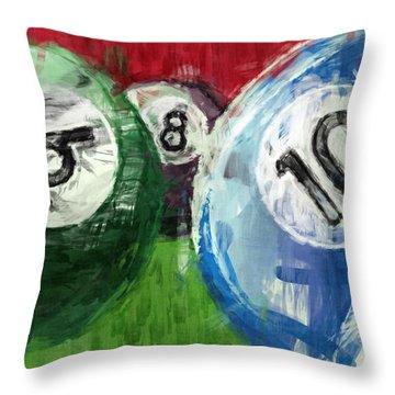 Billiards 6 8 10 Throw Pillow by David G Paul