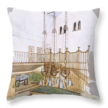 Billiards Room, Designed By George Throw Pillow