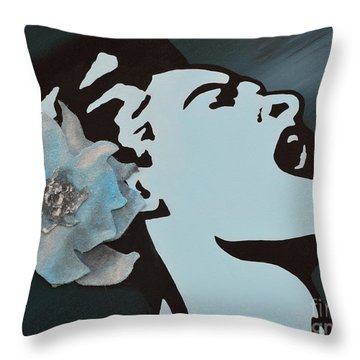 Billie Holiday Throw Pillow by Alys Caviness-Gober