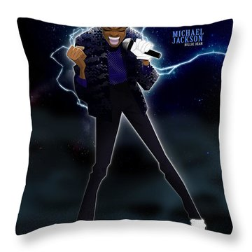 Billie Jean Throw Pillow by Nelson Dedos Garcia
