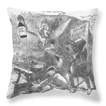 Billings Elysium Editorial Art Throw Pillow