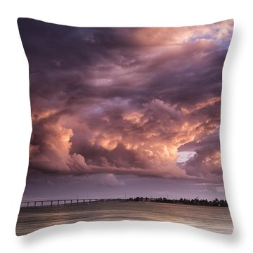 Billowing Clouds Throw Pillow