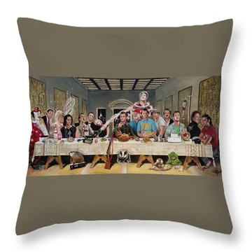 Bills Last Supper Throw Pillow
