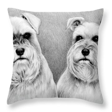 Billy And Misty Throw Pillow by Andrew Read