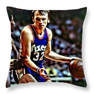 Billy Cunningham Throw Pillow by Florian Rodarte