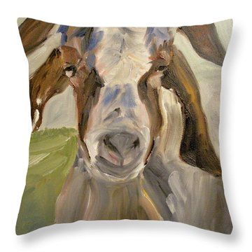 Throw Pillow featuring the painting Billy by Donna Tuten