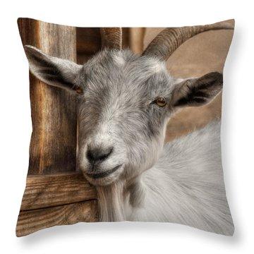 Billy Goat Throw Pillow