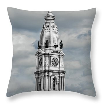 Billy Penn In The Clouds Throw Pillow by Stacey Granger