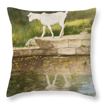 Billy The Kid Throw Pillow by Carla Dabney