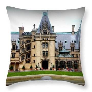 Biltmore Estate Throw Pillow by Patti Whitten