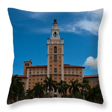Biltmore Hotel Coral Gables Throw Pillow
