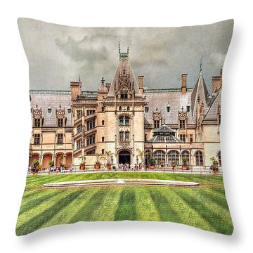 Biltmore House Throw Pillow
