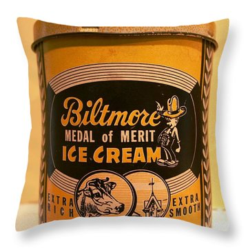 Biltmore Ice Cream Throw Pillow