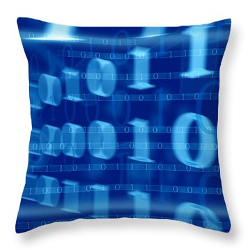 Binary Abstract Throw Pillow by Modern Art Prints