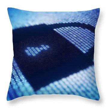 Electronic Data Security Throw Pillow