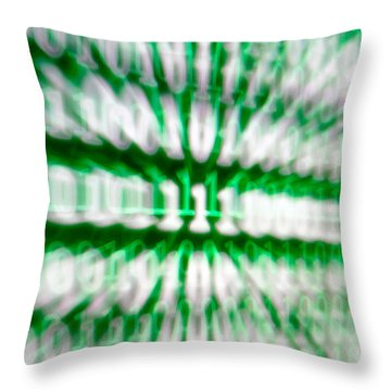 Binary Numbers Throw Pillow