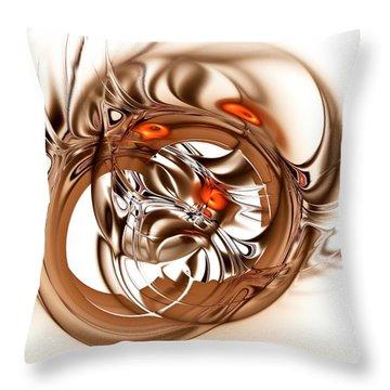 Binding Throw Pillow by Anastasiya Malakhova