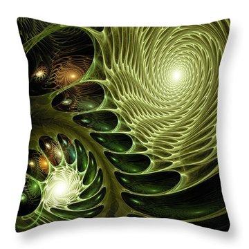 Bio Throw Pillow by Anastasiya Malakhova