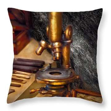 Biology - The Art Of Dissection Throw Pillow by Mike Savad