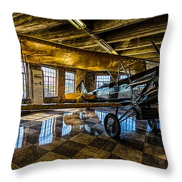 Throw Pillow featuring the photograph Biplane by Jay Stockhaus