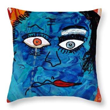 Bipolar Blues Throw Pillow