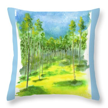 Birch Glen Throw Pillow
