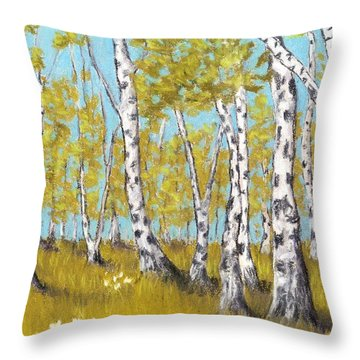 Birch Grove Throw Pillow