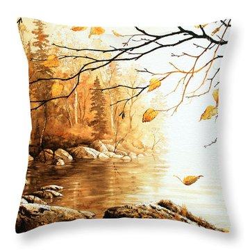 Birch Island Mist Throw Pillow by Hanne Lore Koehler