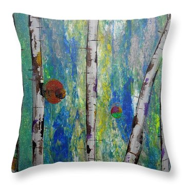 Birch - Lt. Green 4 Throw Pillow