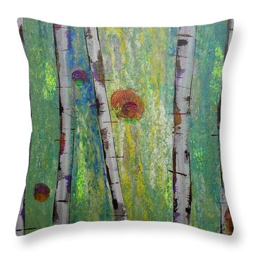 Birch - Lt. Green 5 Throw Pillow