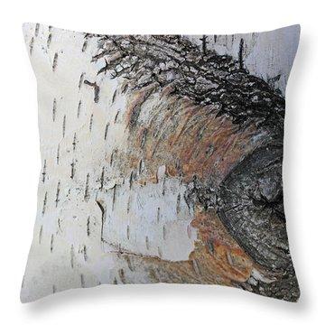 Birch Textures 33 Throw Pillow