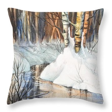 Birch Trio II Throw Pillow