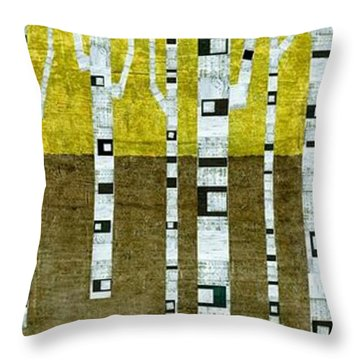 Birches In Fall Throw Pillow