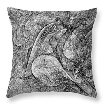 Bird B-w 625 - Marucii Throw Pillow