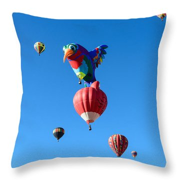 Bird Balloon Throw Pillow