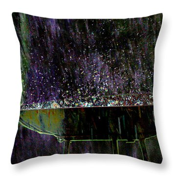 Bird Bath Explosion Throw Pillow