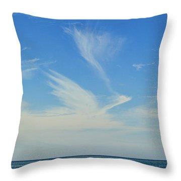 Bird Cloud Throw Pillow