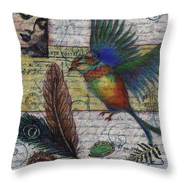 Bird Flight Throw Pillow by Tamyra Crossley