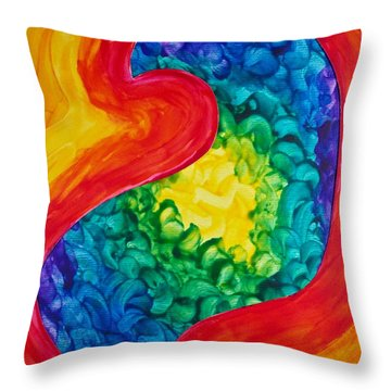Bird Form II Throw Pillow by Michele Myers