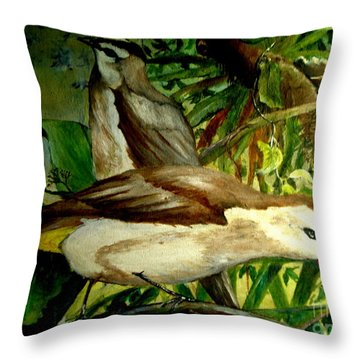 Bird From Bali  Throw Pillow