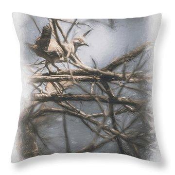 Bird From Woodslost Way Throw Pillow