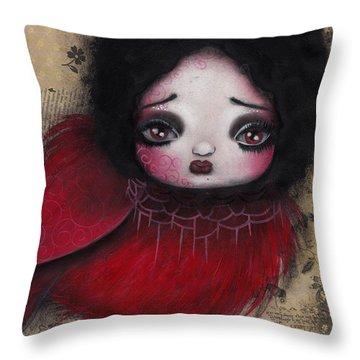 Bird Girl #1 Throw Pillow