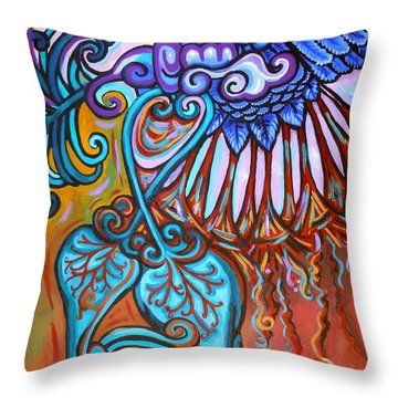 Bird Heart Iv Throw Pillow by Genevieve Esson