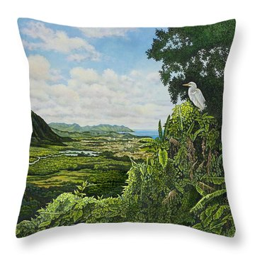 Visions Of Paradise Throw Pillow