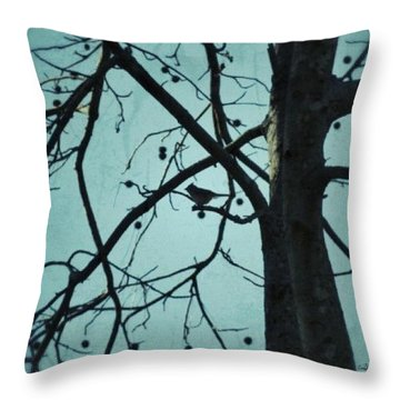 Throw Pillow featuring the photograph Bird In Tree by Tara Potts